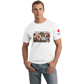 Unisex T-Shirt with American Junior Red Cross Kids Vintage Print