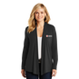 Ladies Open Front Jersey Knit Cardigan