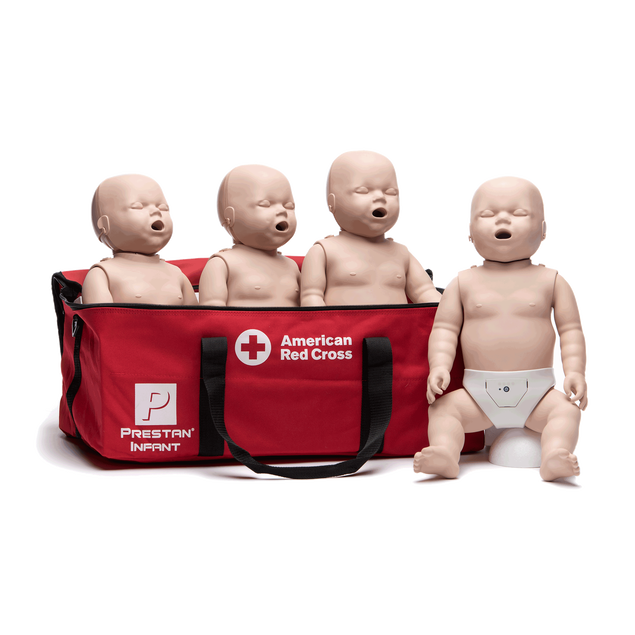 Medium Skin Infant Manikins 4-Pack (with CPR Monitor)