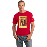 Unisex T-Shirt with Rockwell Window Vintage Print