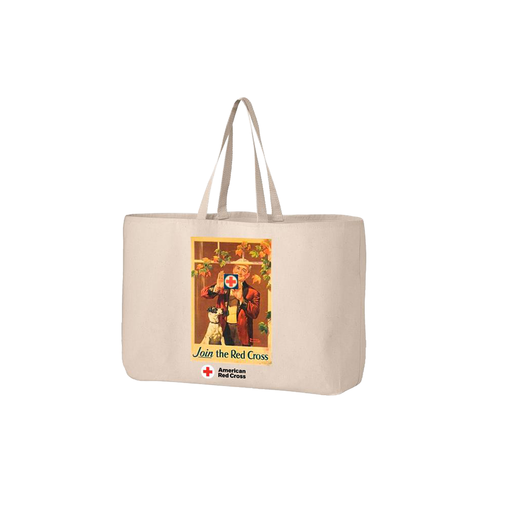 Jumbo tote bag with Rockwell Window Poster  48d97d98a0817