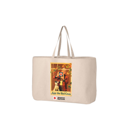 Jumbo tote bag with Rockwell Window poster