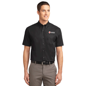 Mens Short Sleeve Button Down with ARC logo