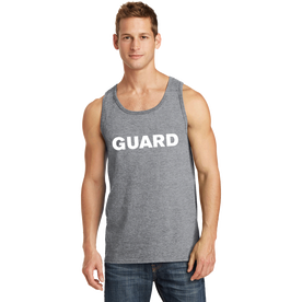 Men's Port & Company Core Cotton Tank Top - GUARD Print