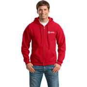 Unisex Zip Up Hoodie with American Red Cross Logo