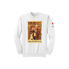 Crewneck with Vintage Rockwell Window posters
