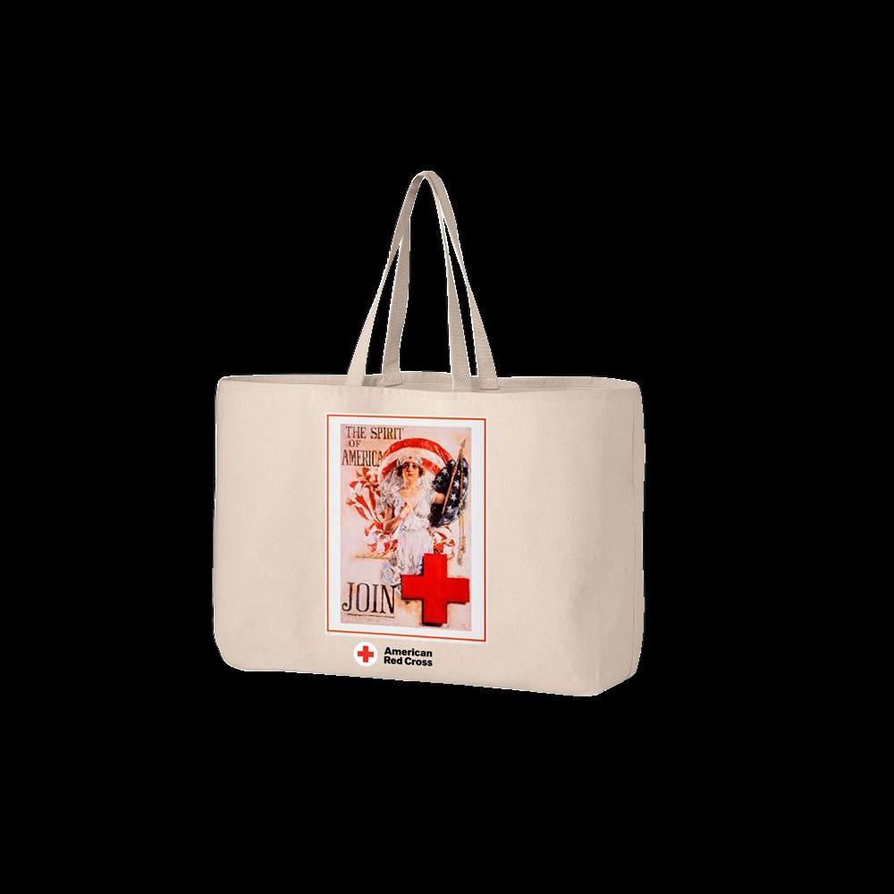 Jumbo tote bag with SPIRIT OF AMERICA Poster  ee43e0ecb3537