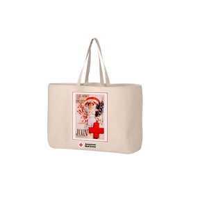 Jumbo tote bag with SPIRIT OF AMERICA poster