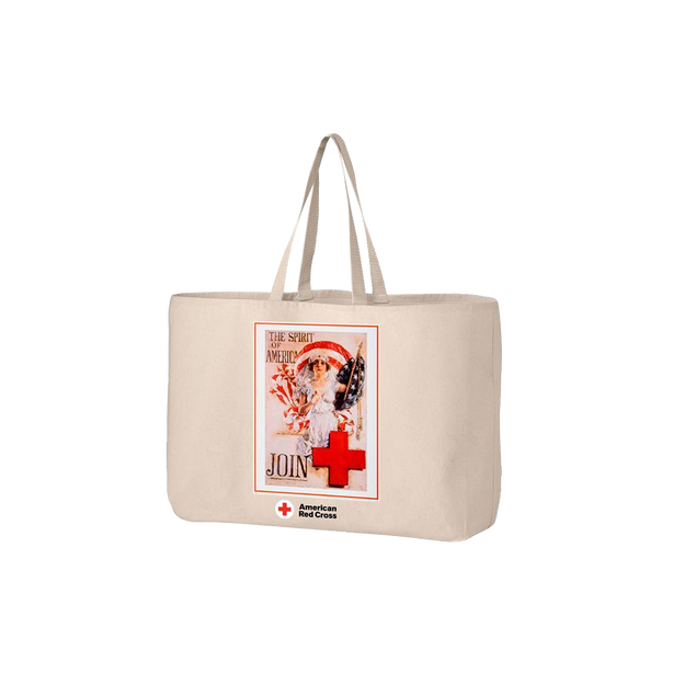Jumbo tote bag with SPIRIT OF AMERICA poster