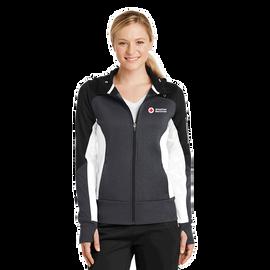 Colorblock Full-Zip Hooded Jacket - Ladies
