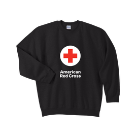 Crewneck Sweat Shirt with American Red Cross logo