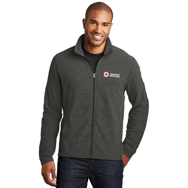Men's Heather Microfleece Zip Up Jacket