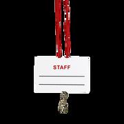 Staff Name Tag and Break-Away Lanyard