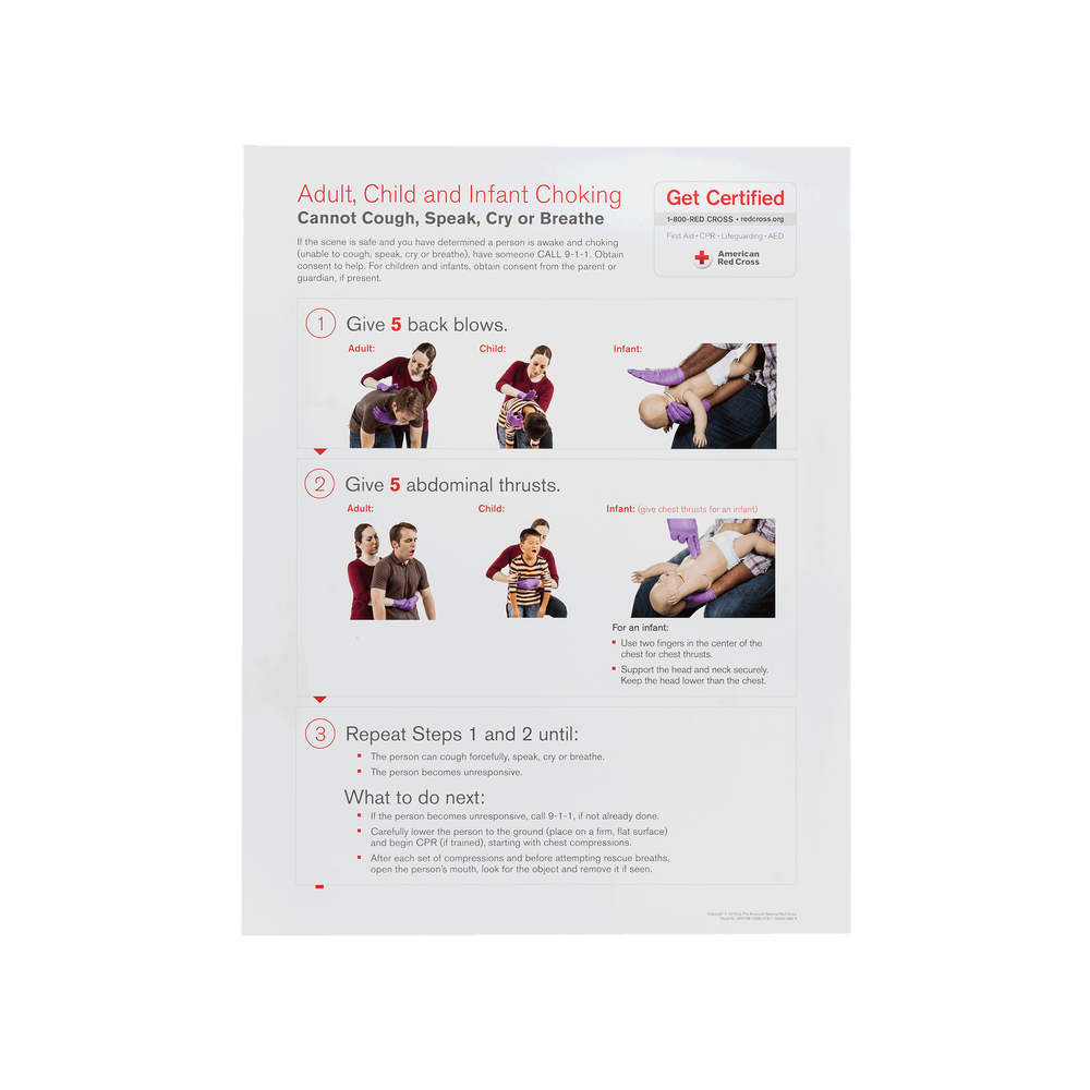 Choking Skill Poster R16 Red Cross Store