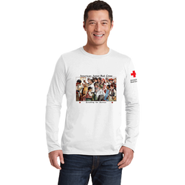 Unisex Long Sleeve T-Shirt with American Junior Red Cross Kids Vintage Print