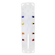 Red Cross Plastic Spinal Backboard with Head Immobilizer & Flotation Rods