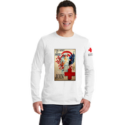 Unisex Long Sleeve T-Shirt with Spirit of America Vintage Print
