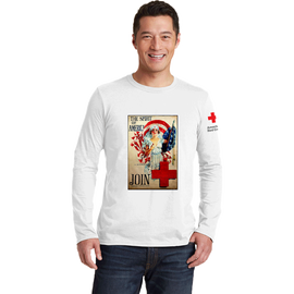 Long Sleeve Tee with Spirit America vintage print