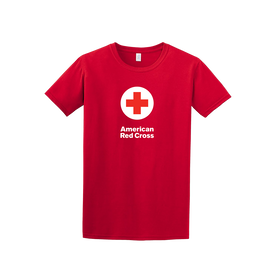 100% Cotton Classic Tee Shirt with American Red Cross logo