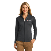 Women's Zip Up Jacket with Vertical Texture
