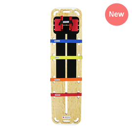 Red Cross Complete Rescue Backboard + Deck Paddle and Velcro System