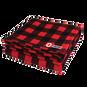 Fleece Blanket Black & Red Checkered