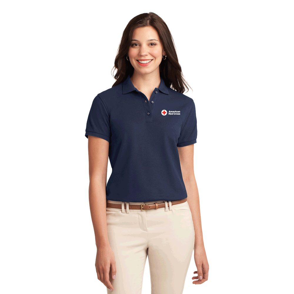 Womens Cotton Polo Shirt Red Cross Store