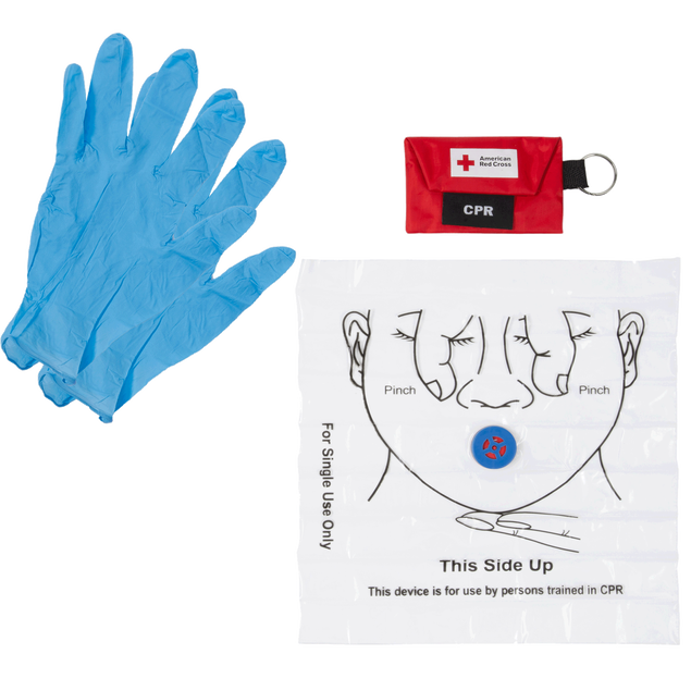 CPR Keychain with Face Shield and Gloves