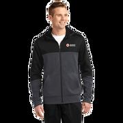Men's Colorblock Zip Up Hooded Jacket