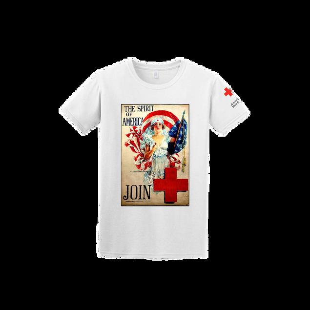 Tee Shirt with Spirit of America print