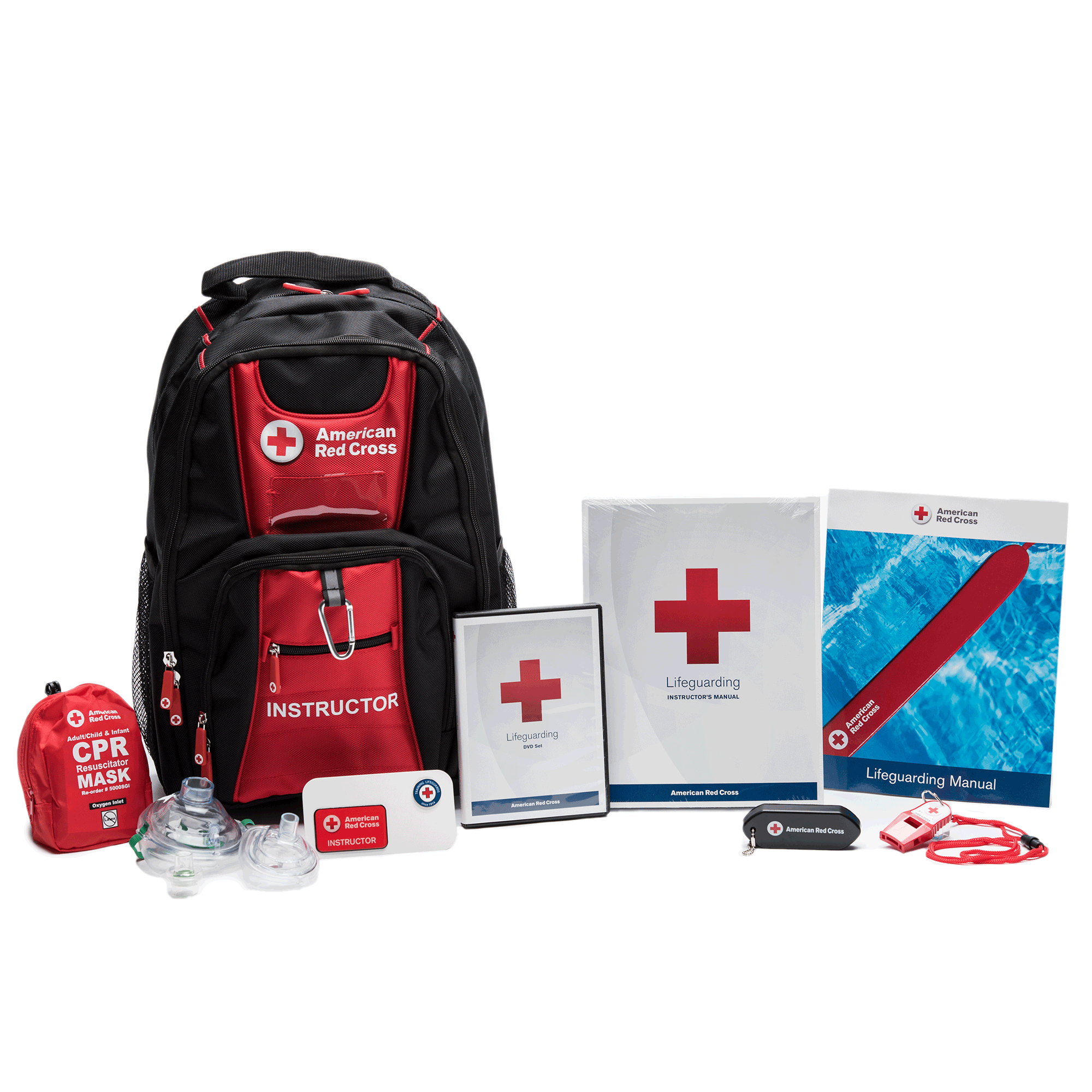 deluxe lifeguarding instructor s kit red cross store rh redcross org American Heart Association Lifeguard Manual Red Cross Lifeguard Book