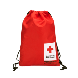 American Red Cross Drawstring Back Pack