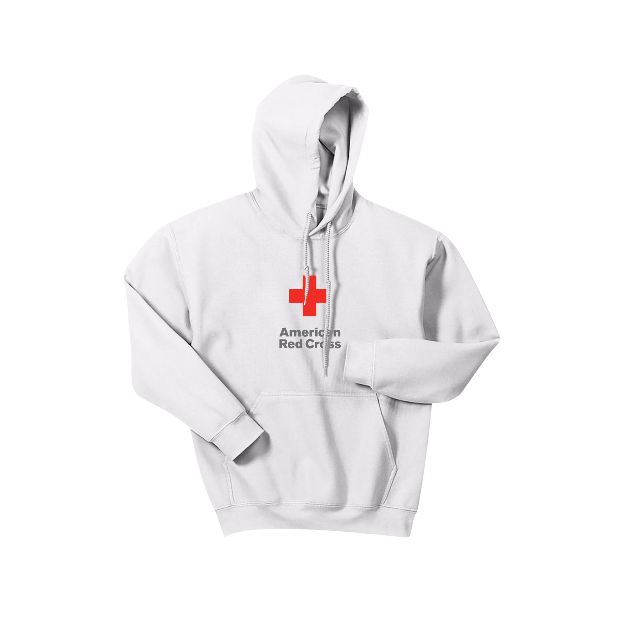 Unisex Pullover Hoodie With Arc Logo Red Cross Store Jaket One Direction Black Dark Heather White