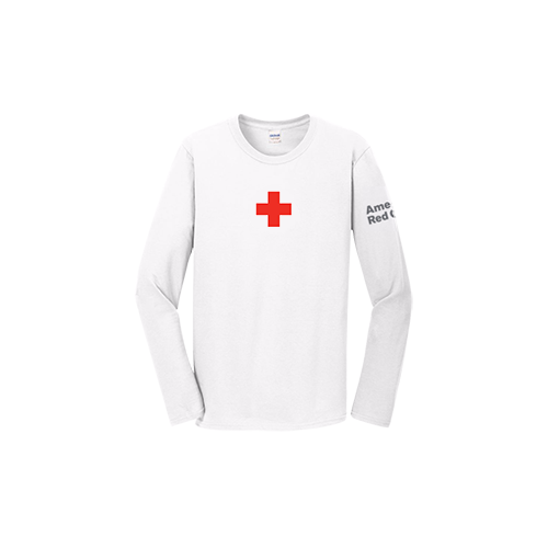 81476dfa Unisex Cotton Long Sleeve T-Shirt with Logo | Red Cross Store