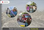 Disaster Cycle Services overview