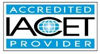 International Association for Continuing Education and Training (IACET) logo